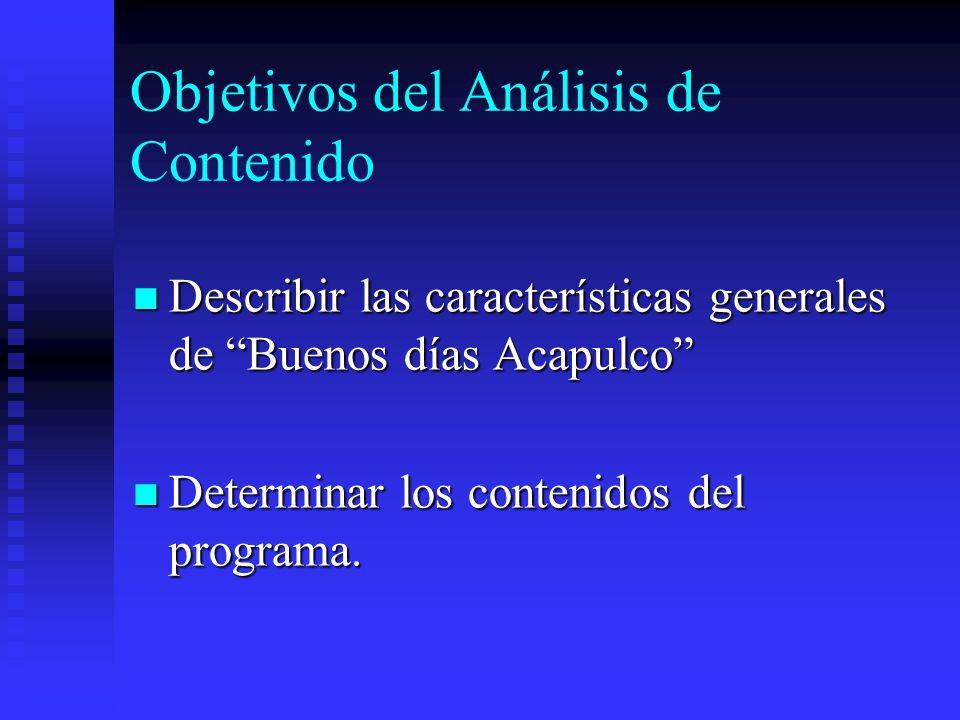 Procedimiento Análisis de los programas del 22, 23 y 26 de Septiembre de 2005.