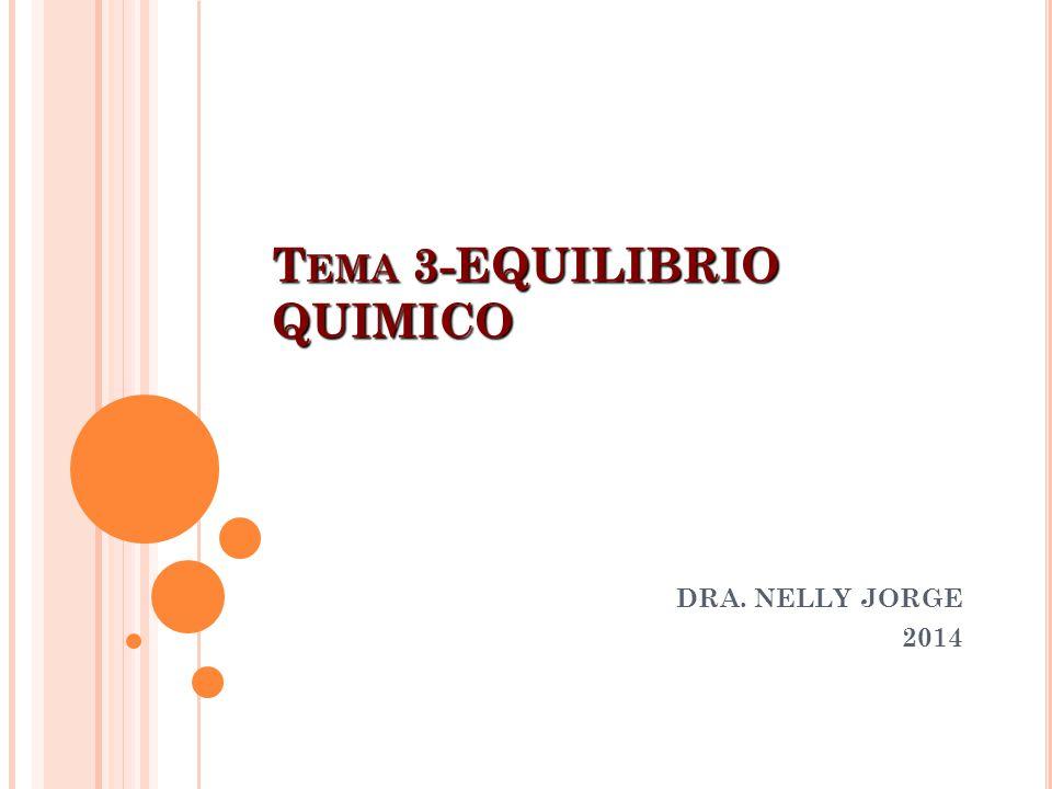 T EMA 3-EQUILIBRIO QUIMICO DRA. NELLY JORGE 2014