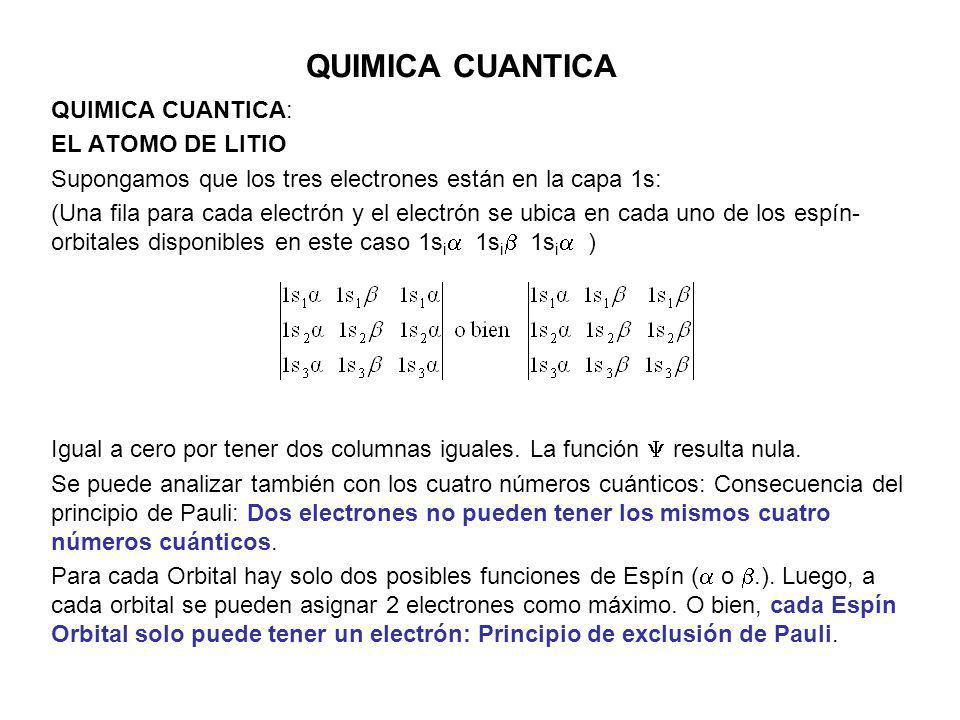 QUIMICA CUANTICA QUIMICA CUANTICA: Ejemplo: Átomo de He.