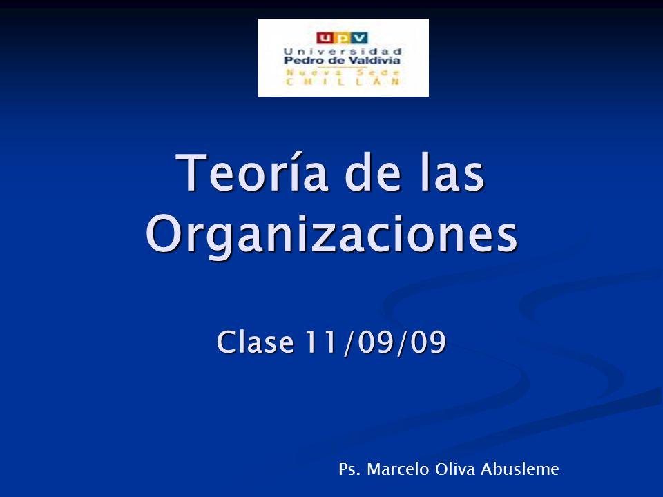 Organizaciones Mecánicas Orgánicas Cambios de paradigmas Desafíos Rol del Psicólogo Trabajo Práctico