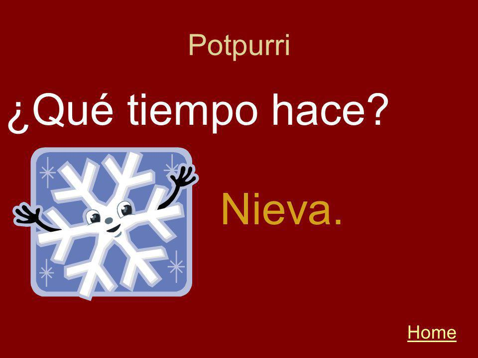 Potpurri Home ¿Qué tiempo hace Nieva.