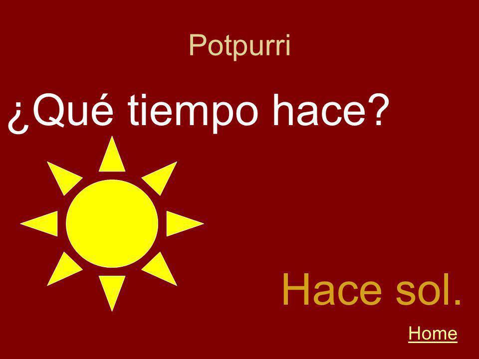 Potpurri Home Hace sol. ¿Qué tiempo hace