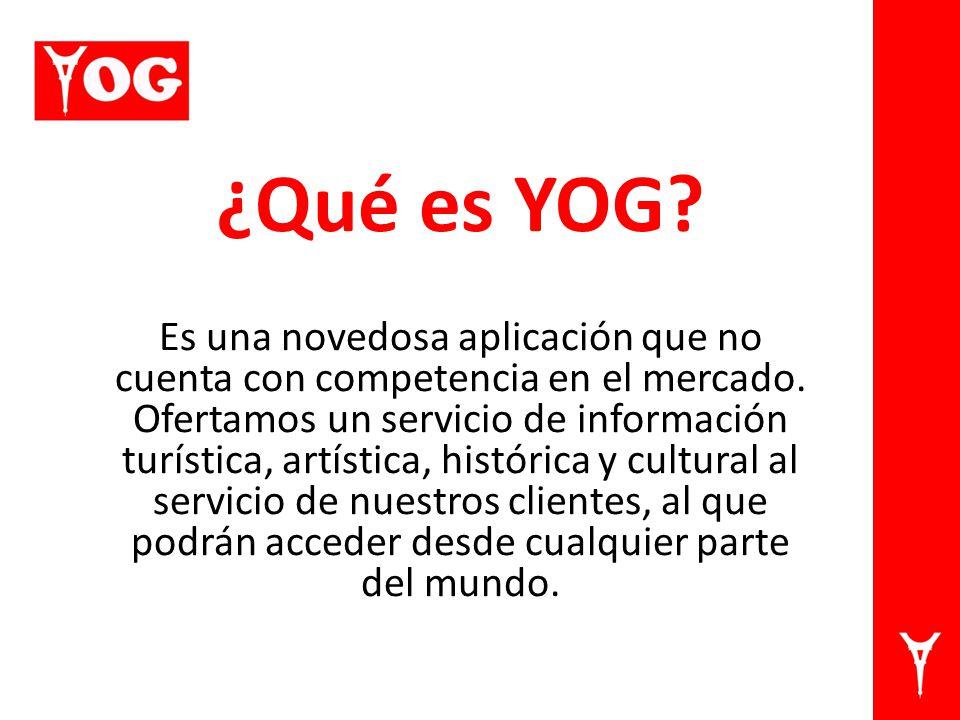 ¿Qué es YOG. Es una novedosa aplicación que no cuenta con competencia en el mercado.
