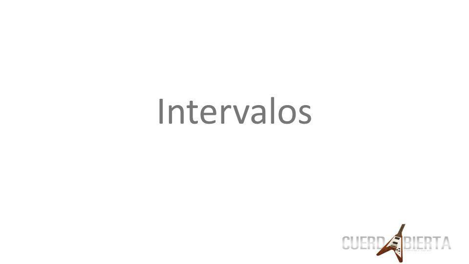¿Que es un intervalo? Es la distancia entre dos notas Ej: C-D E-G