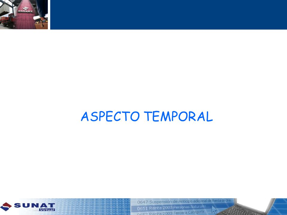ASPECTO TEMPORAL