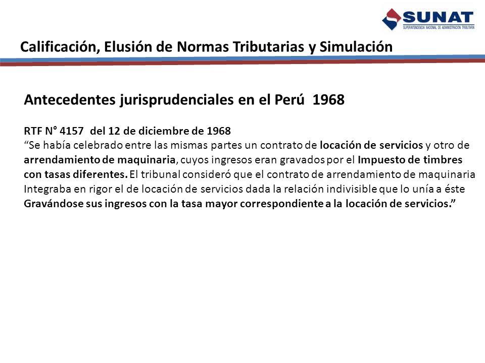 Calificación, Elusión de Normas Tributarias y Simulación Extensión de la Cláusula Antielusiva en el Perú – Norma XVI SALDOS O CRÉDITOS A FAVOR PÉRDIDAS TRIBUTARIAS CREDITOS POR TRIBUTOS Saldo a Favor de Exportador, reintegro tributario, recuperación anticipada del IGV, devolución IGV, drawback, menos pagos indebidos o en exceso