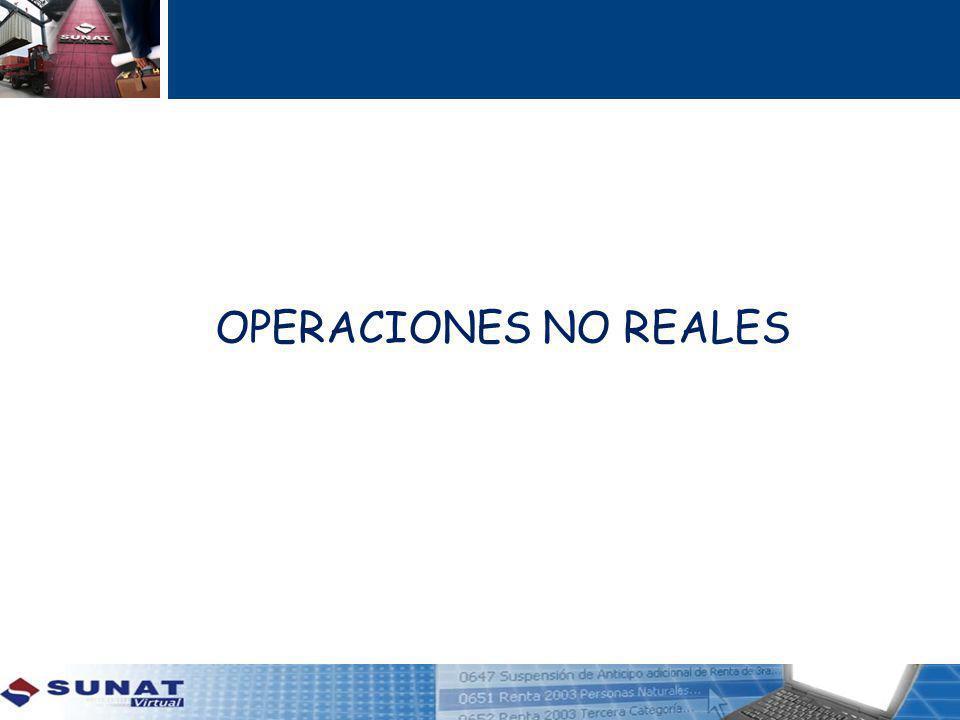 OPERACIONES NO REALES