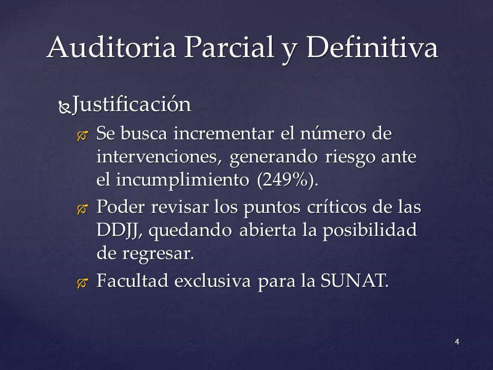 Justificación Justificación Se busca incrementar el número de intervenciones, generando riesgo ante el incumplimiento (249%).
