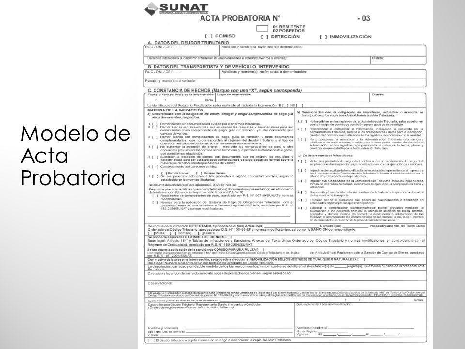 a)Identificación del sujeto intervenido y en su caso del infractor.