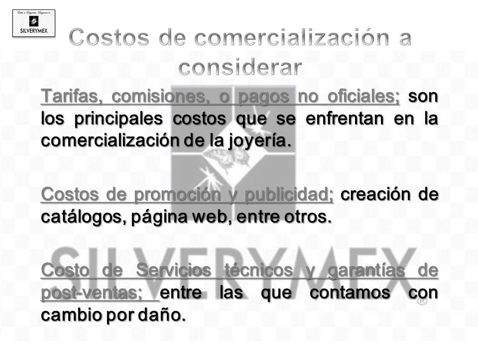 Costos de promoción y publicidad; creación de catálogos, página web, entre otros. Costo de Servicios técnicos y garantías de post-ventas; entre las qu