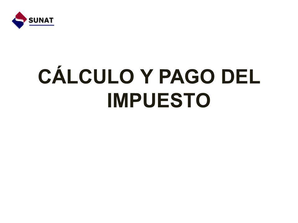CÁLCULO Y PAGO DEL IMPUESTO SUNAT