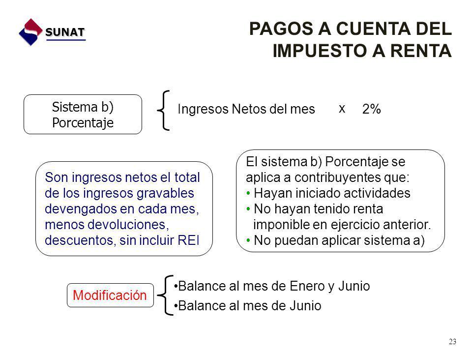 Sistema b) Porcentaje El sistema b) Porcentaje se aplica a contribuyentes que: Hayan iniciado actividades No hayan tenido renta imponible en ejercicio anterior.