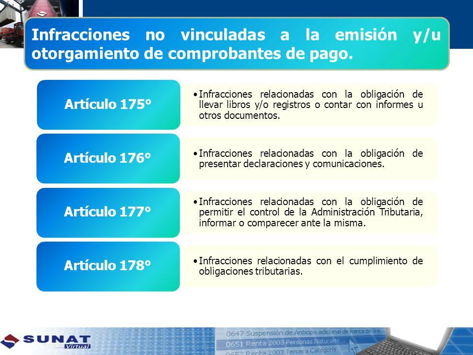 Infracciones relacionadas con la obligación de llevar libros y/o registros o contar con informes u otros documentos.