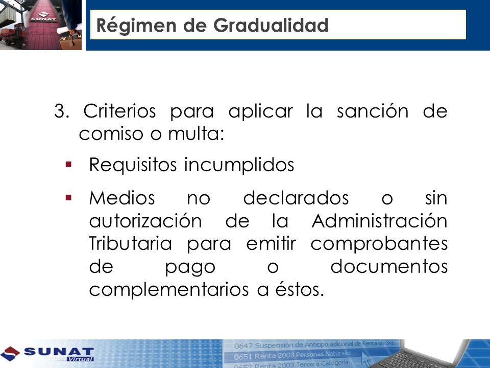 Régimen de Gradualidad 3.