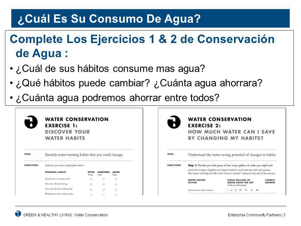 Enterprise Community Partners | 3GREEN & HEALTHY LIVING: Water Conservation ¿Cuál Es Su Consumo De Agua.