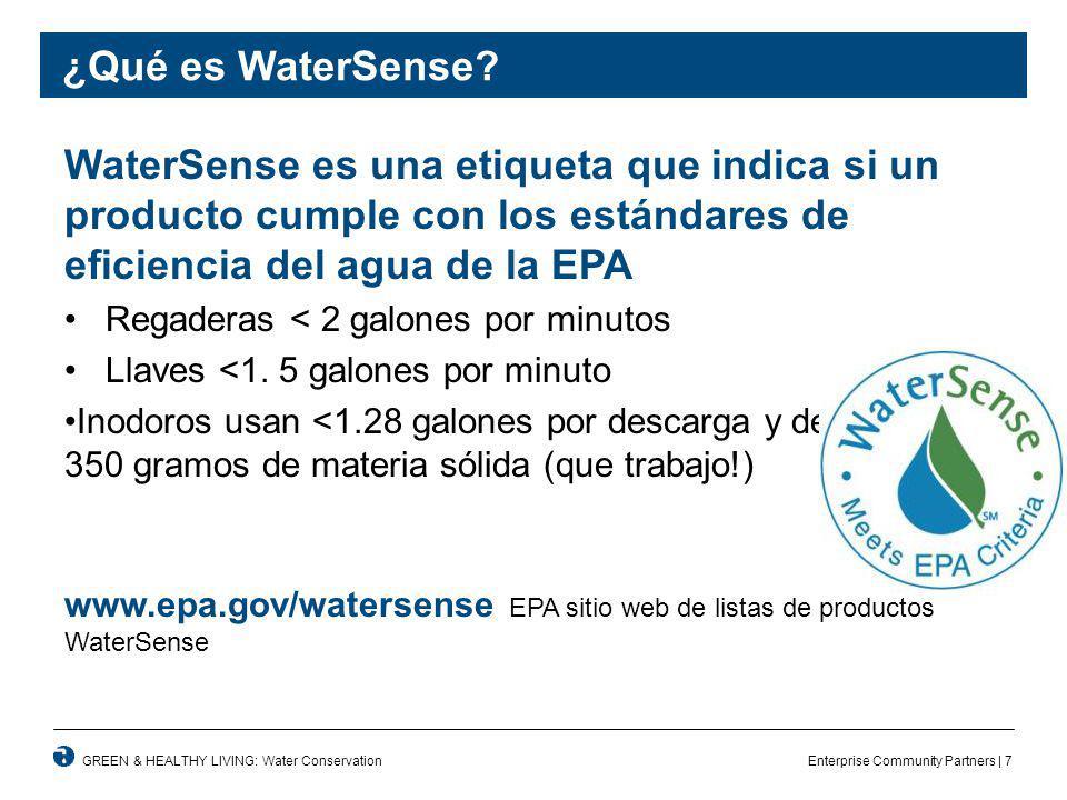 Enterprise Community Partners | 7GREEN & HEALTHY LIVING: Water Conservation ¿Qué es WaterSense.