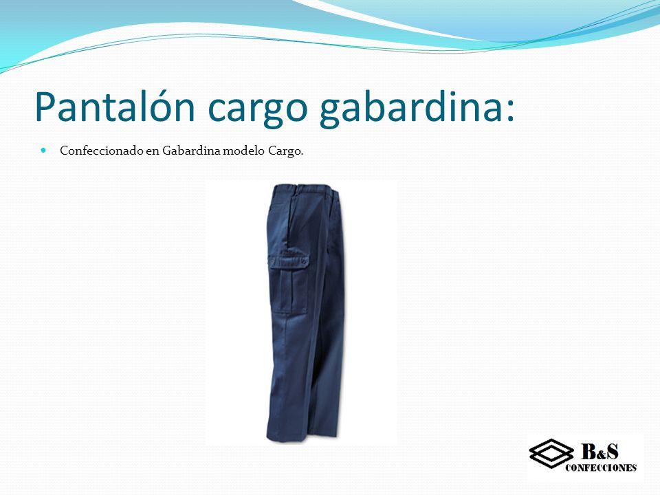 Pantalón cargo Poplin: Confeccionado en Poplin con forro de polar
