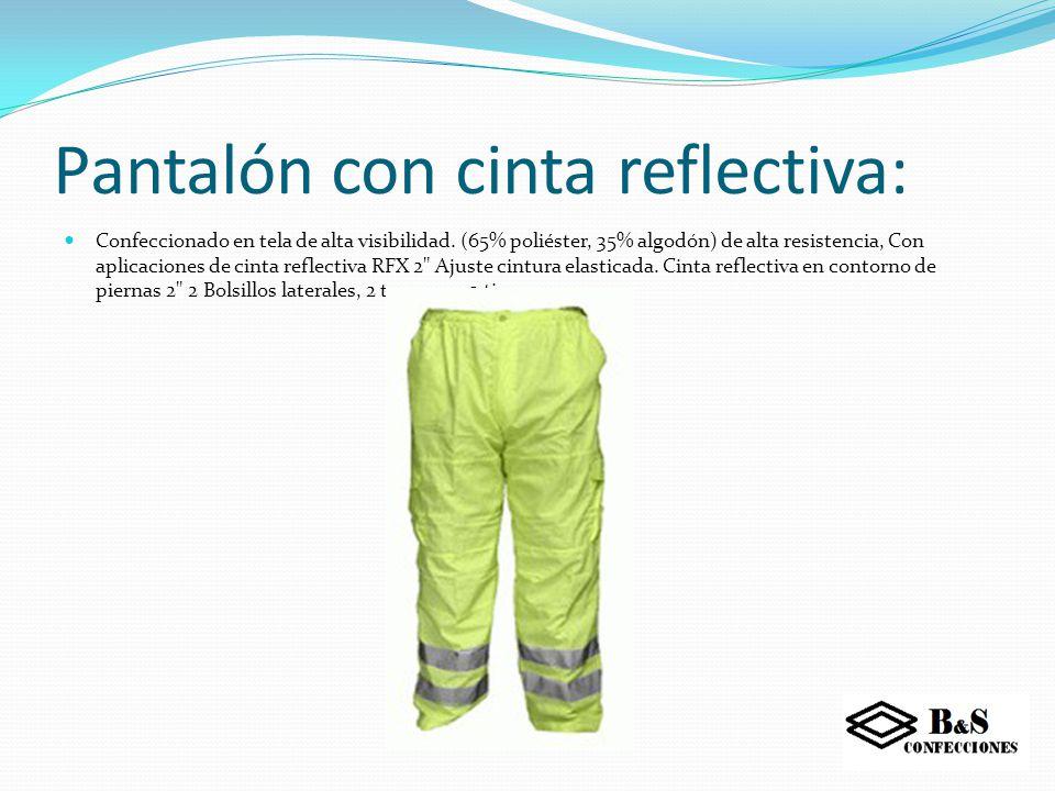 Pantalón cargo gabardina: Confeccionado en Gabardina modelo Cargo.