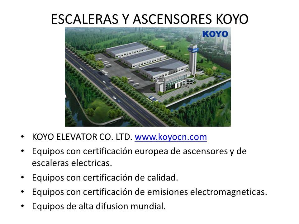 ESCALERAS Y ASCENSORES KOYO KOYO ELEVATOR CO.LTD.