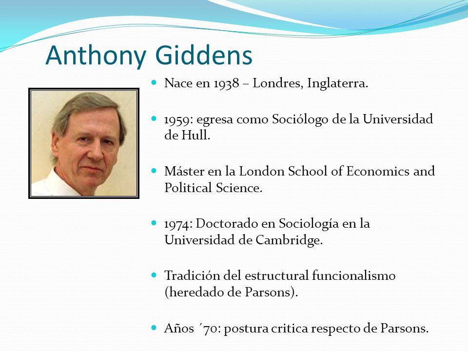 Nace en 1938 – Londres, Inglaterra. 1959: egresa como Sociólogo de la Universidad de Hull. Máster en la London School of Economics and Political Scien