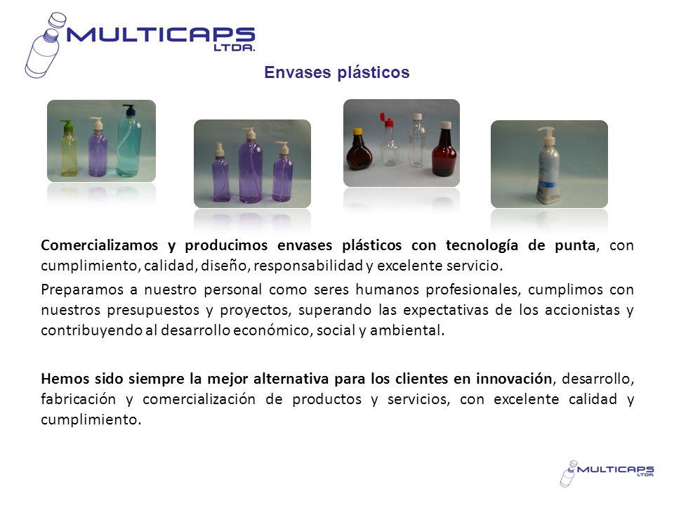 Envases plásticos Comercializamos y producimos envases plásticos con tecnología de punta, con cumplimiento, calidad, diseño, responsabilidad y excelen