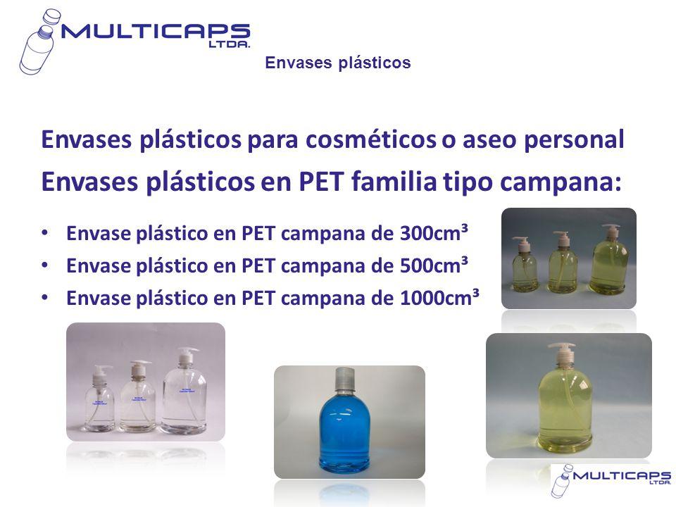 Envases plásticos Envases plásticos para cosméticos o aseo personal Envases plásticos en PET familia tipo campana: Envase plástico en PET campana de 3