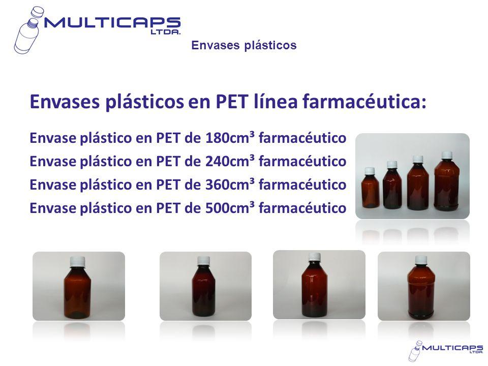 Envases plásticos Envases plásticos en PET línea farmacéutica: Envase plástico en PET de 180cm³ farmacéutico Envase plástico en PET de 240cm³ farmacéu