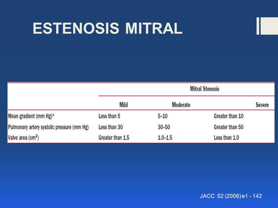 ESTENOSIS MITRAL JACC 52 (2008) e1 - 142