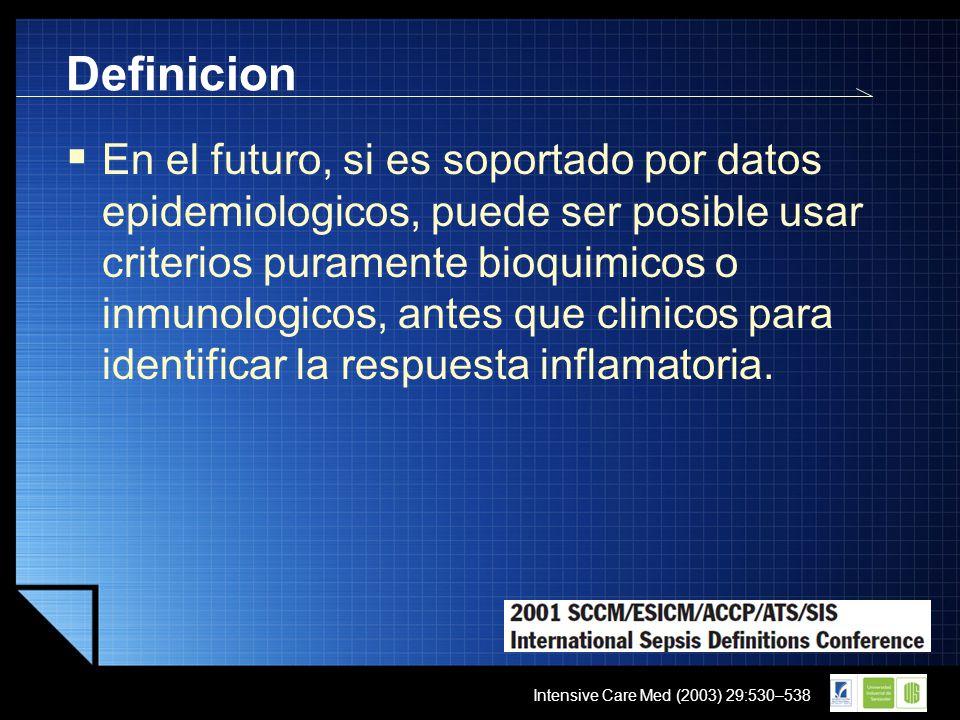 LOGO En el futuro, si es soportado por datos epidemiologicos, puede ser posible usar criterios puramente bioquimicos o inmunologicos, antes que clinic