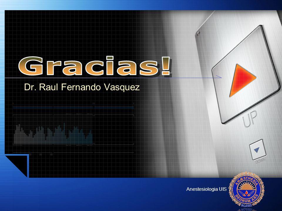 Dr. Raul Fernando Vasquez Anestesiologia UIS