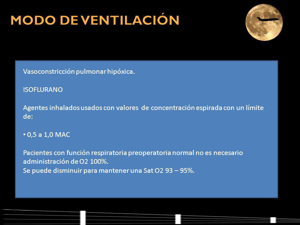 Vasoconstricción pulmonar hipóxica.
