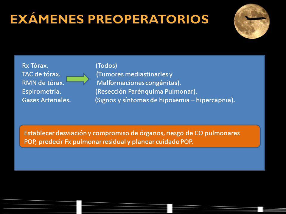Rx Tórax.(Todos) TAC de tórax. (Tumores mediastinarles y RMN de tórax.