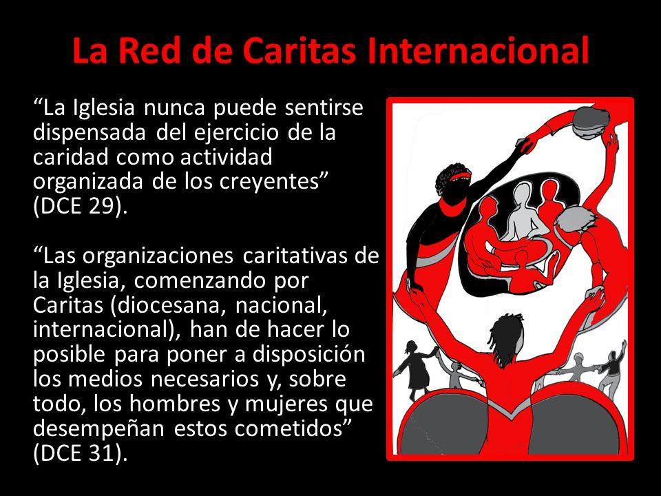 La Red de Caritas Internacional La Iglesia nunca puede sentirse dispensada del ejercicio de la caridad como actividad organizada de los creyentes (DCE