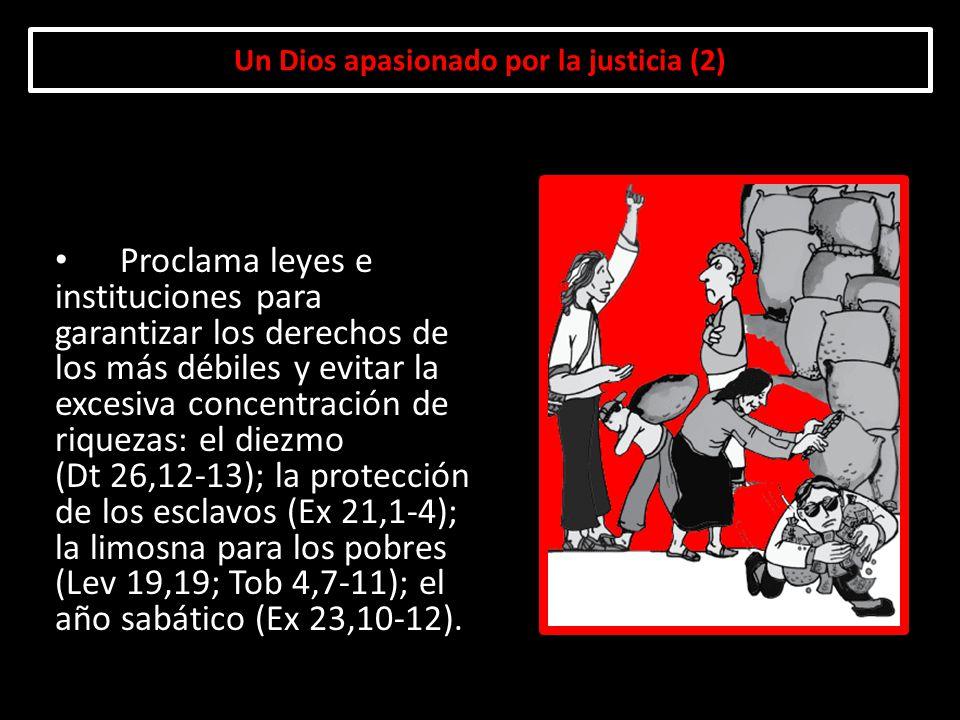 Un Dios apasionado por la justicia (2) Proclama leyes e instituciones para garantizar los derechos de los más débiles y evitar la excesiva concentraci