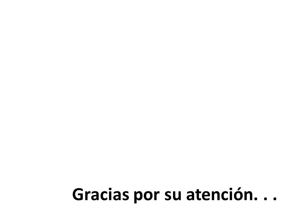 Gracias por su atención...