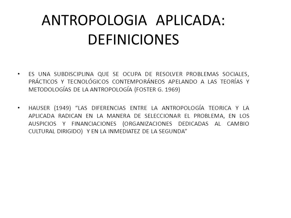La antropología aplicada es una forma de ingeniería social (Popper K.