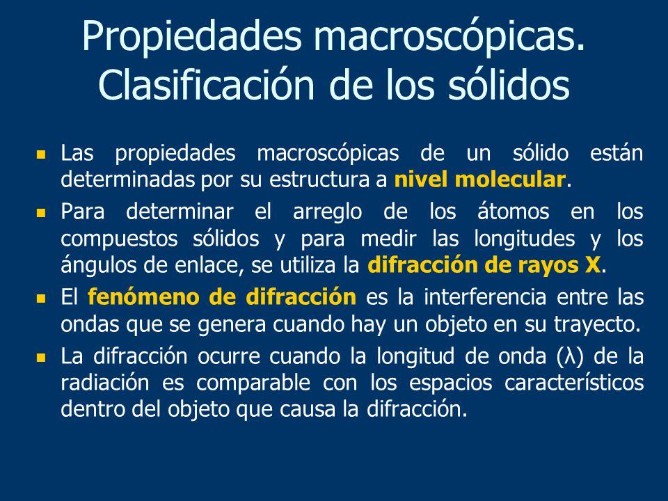 Los sólidos se clasifican en cristalinos y amorfos.