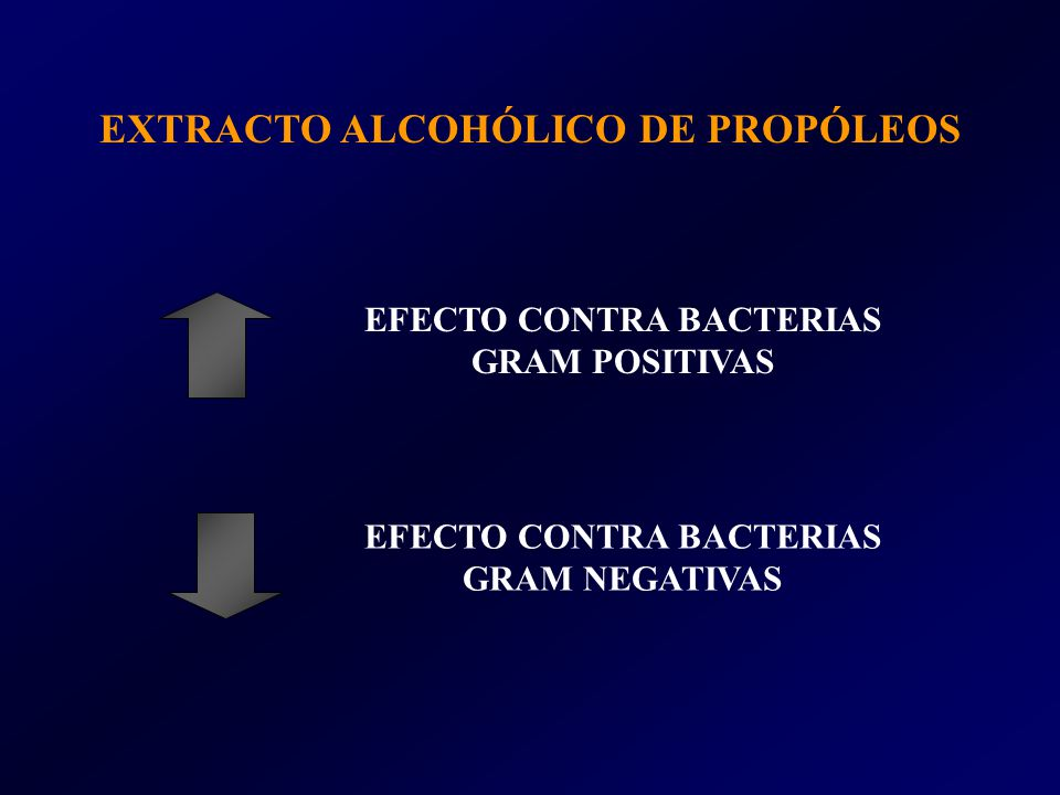 EXTRACTO ALCOHÓLICO DE PROPÓLEOS EFECTO CONTRA BACTERIAS GRAM POSITIVAS EFECTO CONTRA BACTERIAS GRAM NEGATIVAS