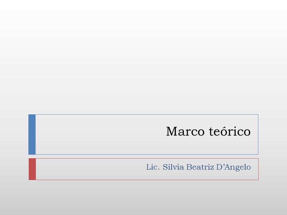 MARCO TEÓRICO.