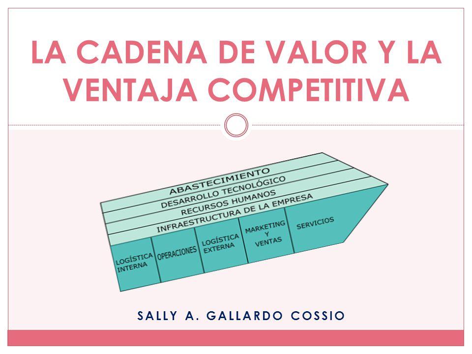 SALLY A. GALLARDO COSSIO LA CADENA DE VALOR Y LA VENTAJA COMPETITIVA