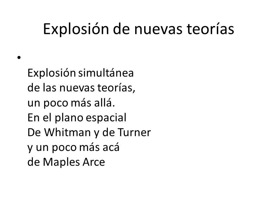 Explosión de nuevas teorías Explosión simultánea de las nuevas teorías, un poco más allá.
