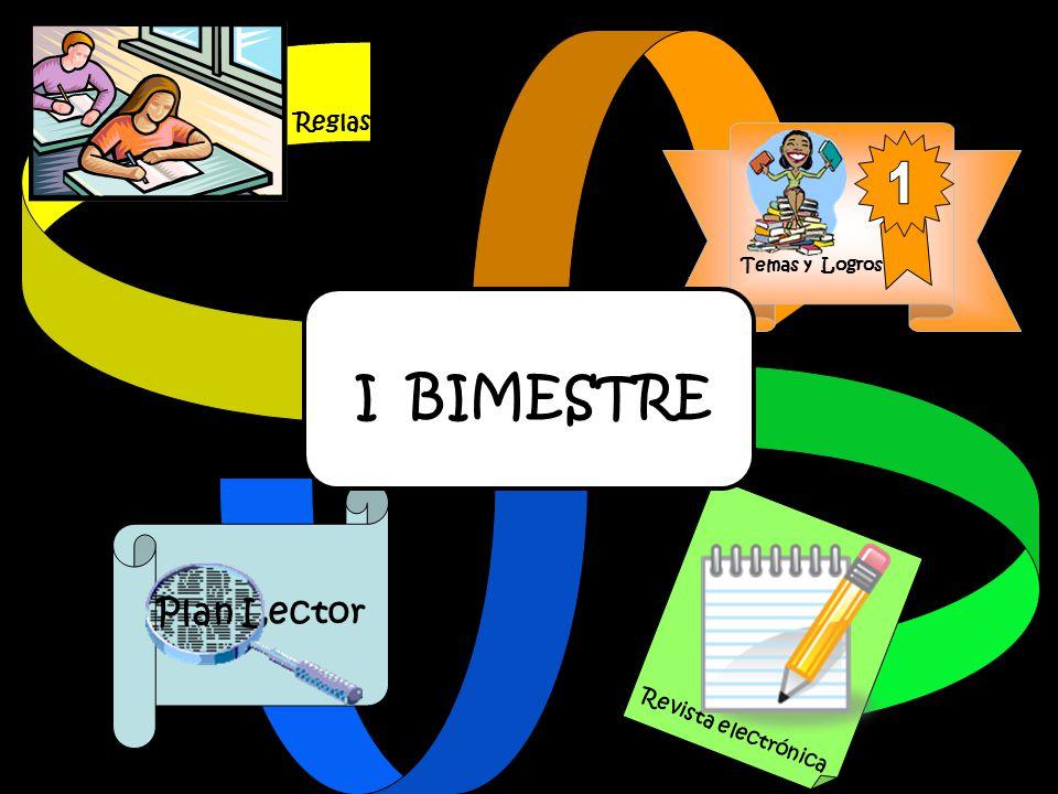 Temas y Logros Plan Lector Reglas Revista electrónica I BIMESTRE