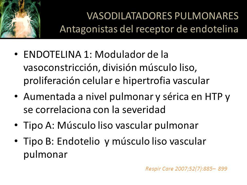 ENDOTELINA 1: Modulador de la vasoconstricción, división músculo liso, proliferación celular e hipertrofia vascular Aumentada a nivel pulmonar y séric
