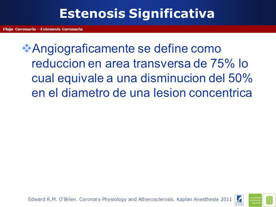 Estenosis Significativa Flujo Coronario - Estenosis Coronaria Edward R.M.