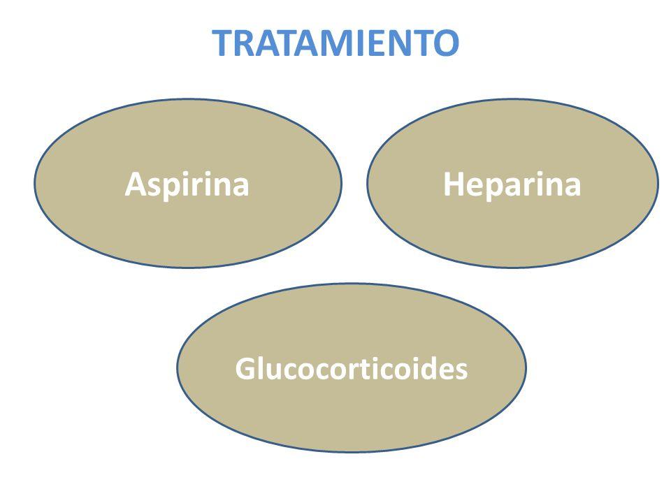TRATAMIENTO Glucocorticoides HeparinaAspirina