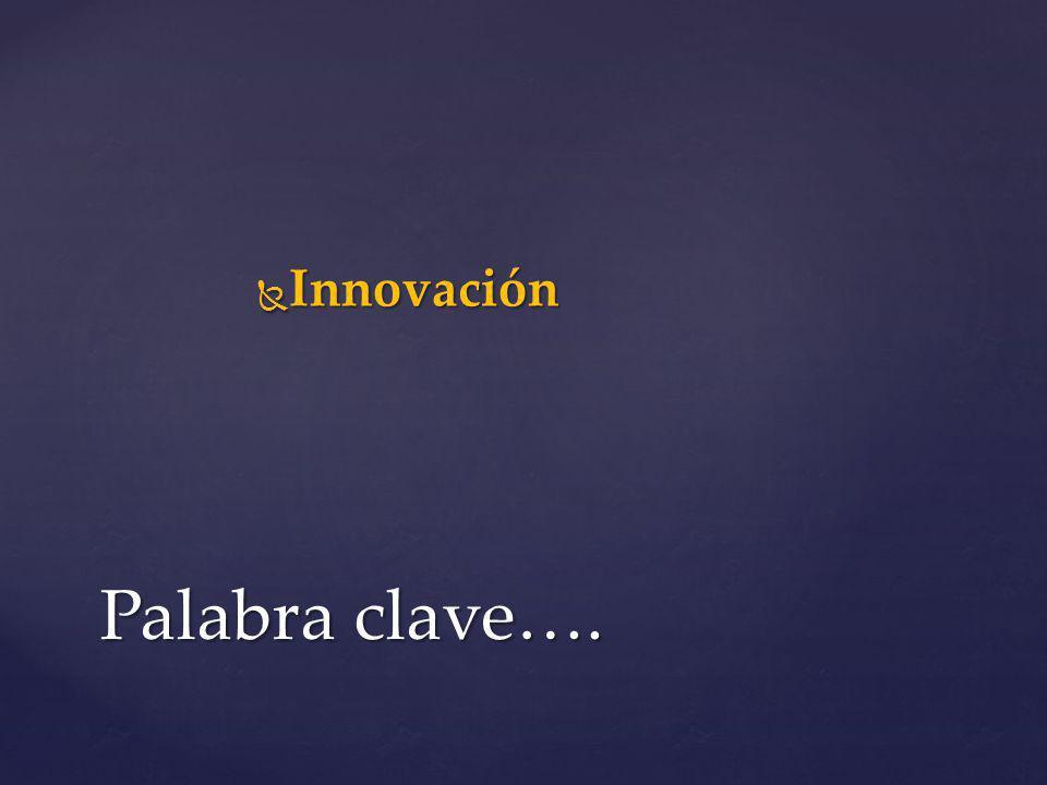 Innovación Innovación Palabra clave….