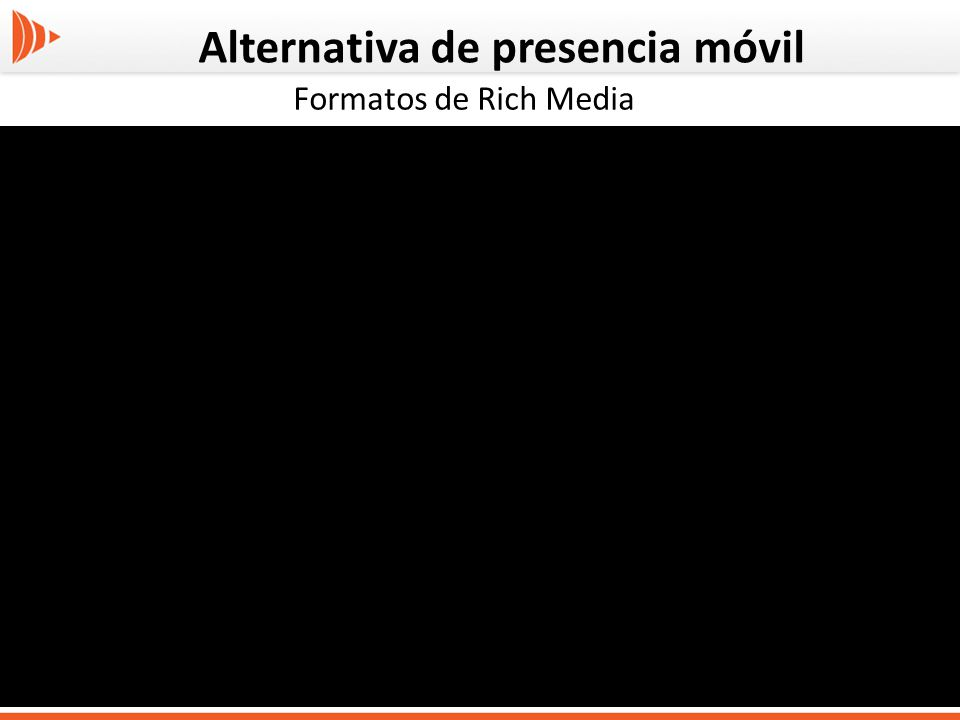 Alternativa de presencia móvil Formatos de Rich Media
