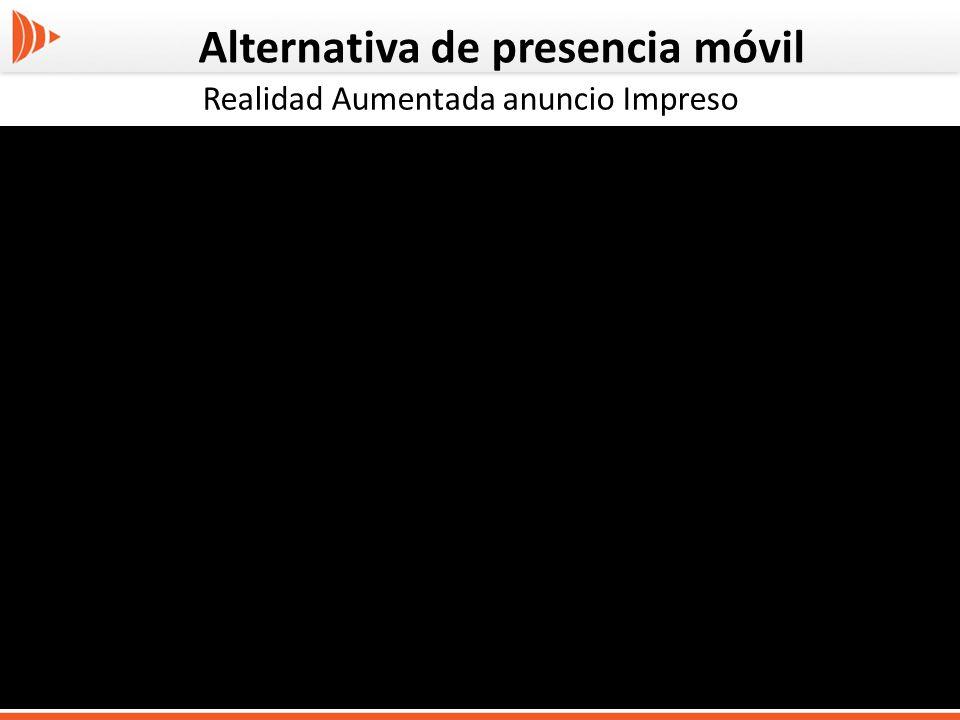 Alternativa de presencia móvil Realidad Aumentada anuncio Impreso
