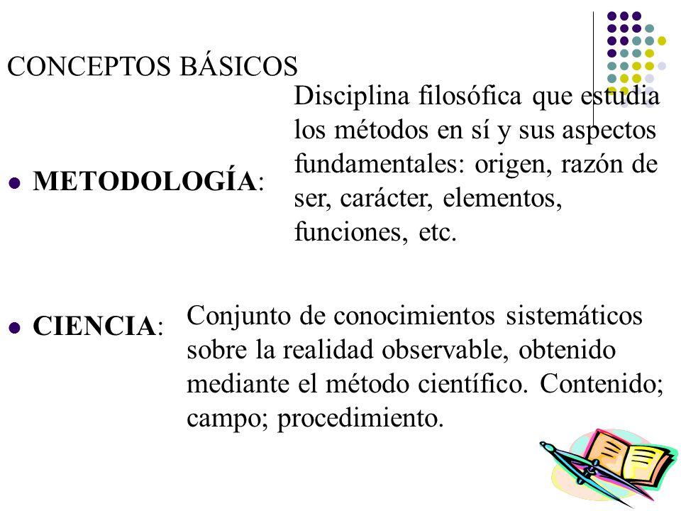 CONCEPTOS BÁSICOS TEORÍA: Producto de la ciencia, elaboración conceptual basada en enunciados o proposiciones bien construidas (coherentes y sistemáticas).