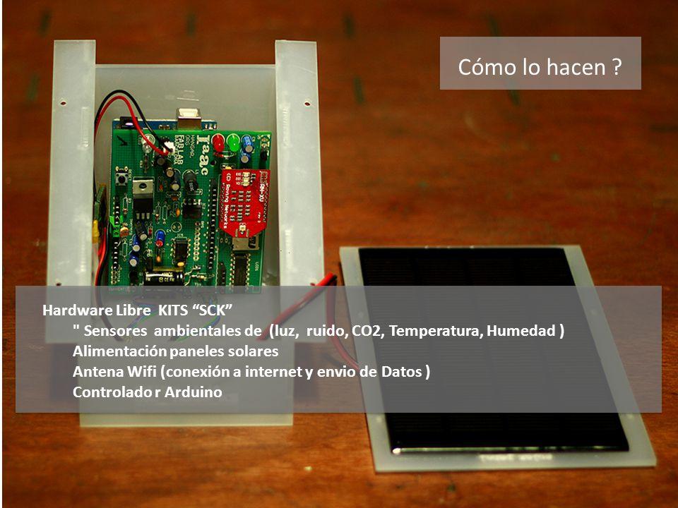 Cómo lo hacen ? Hardware Libre KITS SCK